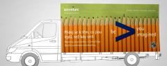 Accenture mobilny billboard